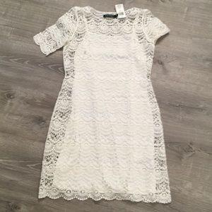 Lauren white lace dress